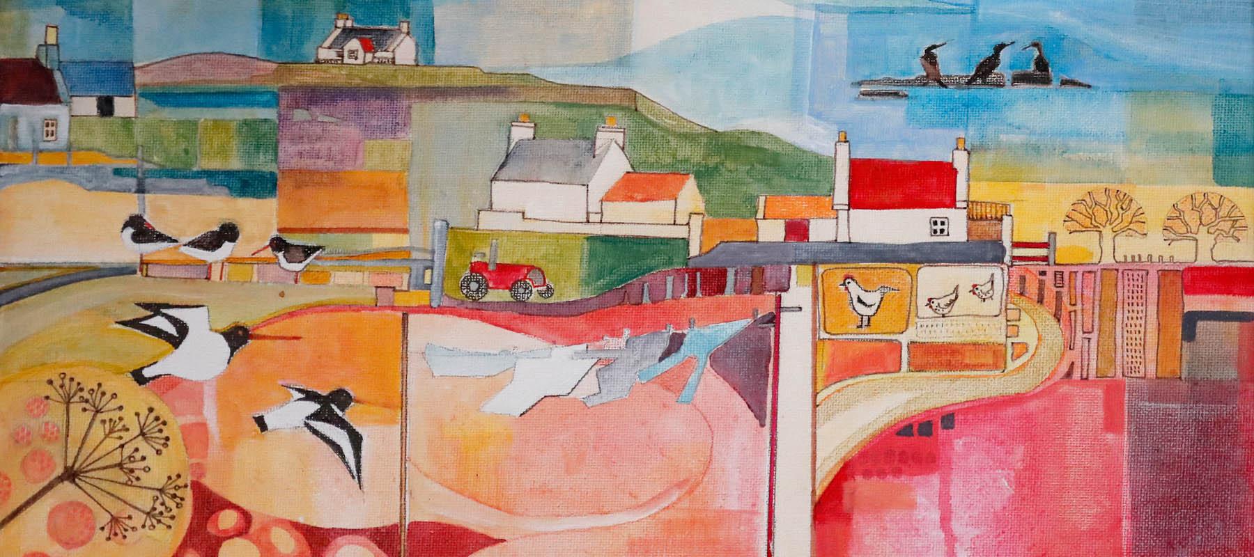 Canvas by - Jane Harlington - artist - Blue Pig Studio - Carloway - Isle of Lewis